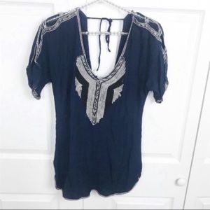 Free People l String Knit Open Shoulder Tunic